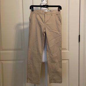 Boys skinny adjustable waistband khakis